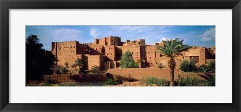 Framed Buildings in a village, Ait Benhaddou, Ouarzazate, Marrakesh, Morocco Print
