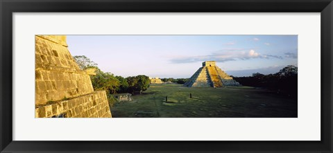 Framed Pyramids at an archaeological site, Chichen Itza, Yucatan, Mexico Print