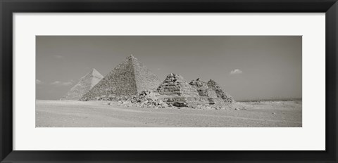 Framed Pyramids Of Giza, Egypt Print
