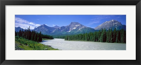 Framed Rocky Mountains Near Jasper, Alberta Canada Print
