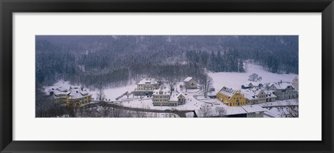 Framed Village Of Hohen-Schwangau in winter, Bavaria, Germany Print