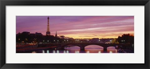 Framed Bridge with the Eiffel Tower in the background, Pont Alexandre III, Seine River, Paris, Ile-de-France, France Print