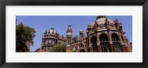 Framed Low angle view of a hospital, Hospital De Sant Pau, Barcelona, Spain Print