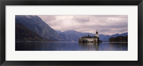 Framed Fort on an island in a lake, Schloss Ort, Traunsee, Gmunden, Upper Austria, Austria Print