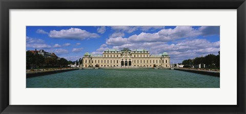 Framed Facade of a palace, Belvedere Palace, Vienna, Austria Print