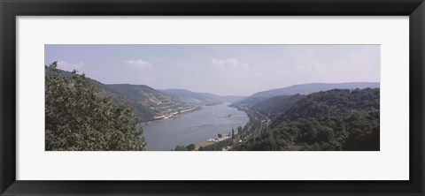 Framed Germany, Bacharach, Lorch, Bridge over the Rhine river Print