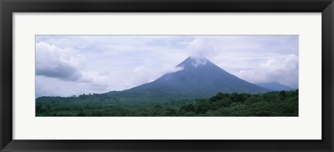 Framed Clouds over a mountain peak, Arenal Volcano, Alajuela Province, Costa Rica Print