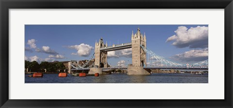 Framed Bridge Over A River, Tower Bridge, Thames River, London, England, United Kingdom Print