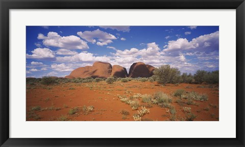 Framed Rock formations on a landscape, Olgas, Northern Territory, Australia Print