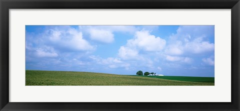 Framed Panoramic view of a landscape, Marshall County, Iowa, USA Print