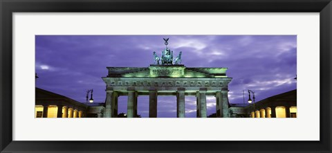 Framed Low Angle View Of The Brandenburg Gate, Berlin, Germany Print