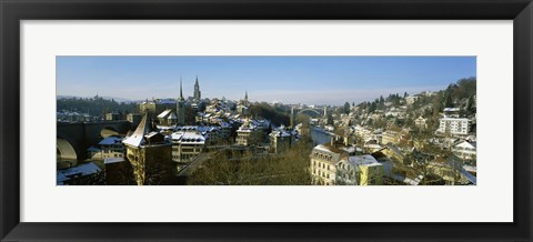Framed High angle view of a city, Berne, Switzerland Print