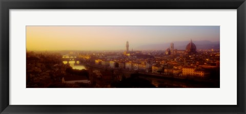 Framed High angle view of Florence, Italy Print