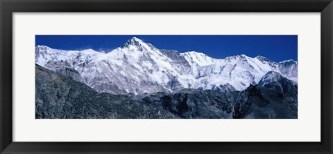 Framed Cho Oyu from Goyko Valley Khumbu Region Nepal Print