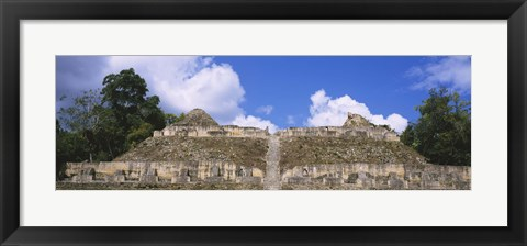 Framed Old ruins of a temple, El Caracol, Cayo District, Belize Print