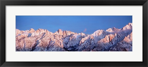 Framed Snow Mt Whitney CA USA Print