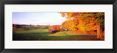 Framed Fall Farm VT USA Print