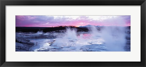 Framed Sunset, Norris Geyser Basin, Wyoming, USA Print