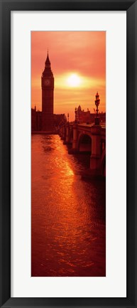 Framed Big Ben at dusk, London England Print