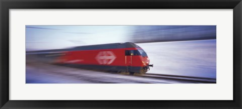 Framed SBB Train Switzerland Print