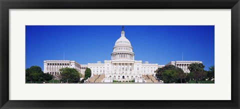 Framed Facade of a government building, Capitol Building, Capitol Hill, Washington DC, USA Print