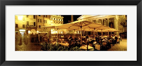 Framed Cafe, Pantheon, Rome Italy Print