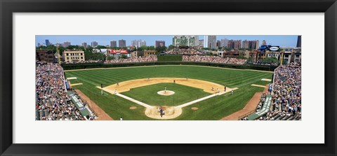 Framed Cubs playing in Wrigely Field, USA, Illinois, Chicago Print