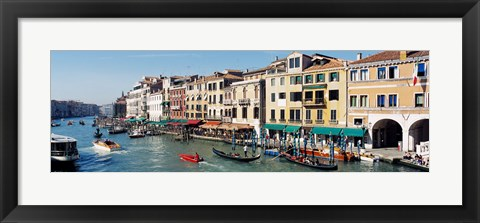 Framed High angle view of a canal, Grand Canal, Venice, Italy Print