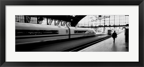 Framed Train leaving a Station, Cologne, Germany Print