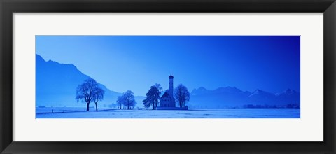 Framed St. Coloman Church Schwangau Germany Print