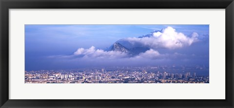 Framed Rock Of Gibraltar, Andalucia, Spain Print