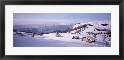 Framed Italy, Italian Alps, High angle view of snowcovered mountains Print