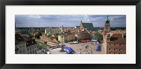 Framed High angle view of a city, Warsaw, Poland Print