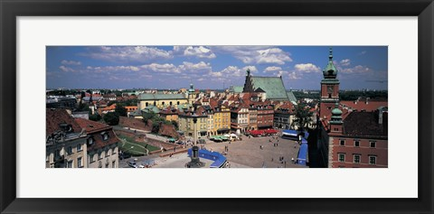 Framed High angle view of a market square, Warsaw, Silesia, Poland Print