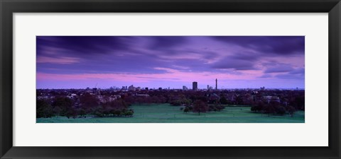 Framed Building In A City Near A Park, Primrose Hill, London, England, United Kingdom Print