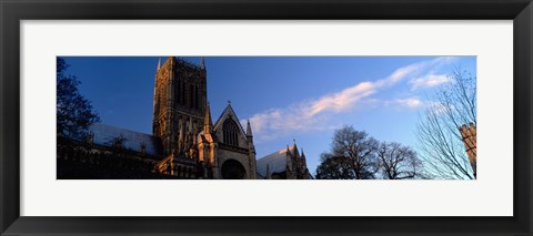 Framed High Section View Of A Cathedral, Lincoln Cathedral, Lincolnshire, England, United Kingdom Print