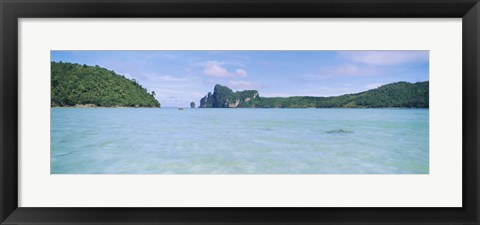 Framed Hills in the ocean, Loh Dalum Bay, Ko Phi Phi Don, Phi Phi Islands, Thailand Print
