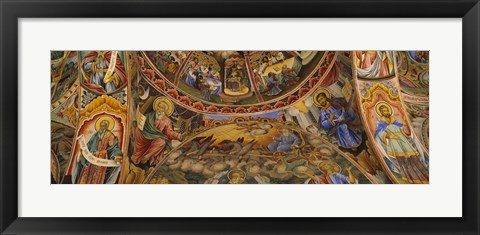 Framed Fresco on the ceiling of the Rila Monastery, Bulgaria Print