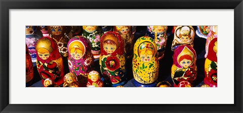 Framed Close-up of Russian nesting dolls, Bulgaria Print