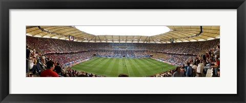 Framed Crowd in a stadium to watch a soccer match, Hamburg, Germany Print