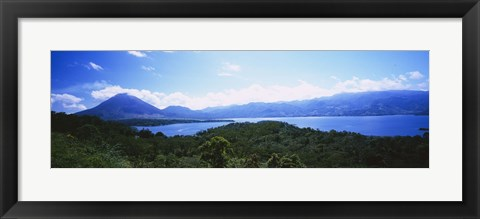 Framed Clouds over a volcano, Arenal Volcano, Costa Rica Print