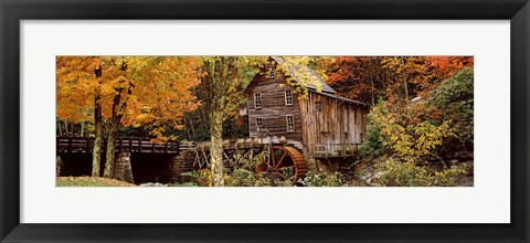 Framed Glade Creek Grist Mill, Babcock State Park, West Virginia, USA Print