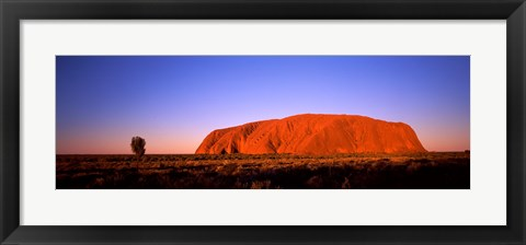 Framed Rock formation, Uluru, Uluru-Kata Tjuta National Park, Northern Territory, Australia Print