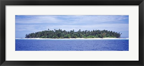 Framed Island in the sea, Indonesia Print