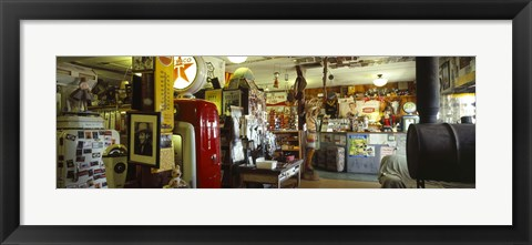 Framed Interiors of a store, Route 66, Hackberry, Arizona Print