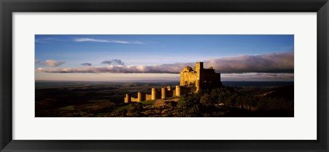 Framed Castle on a hill, Loarre Castle, Huesca, Aragon, Spain Print