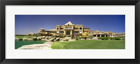 Framed Facade of a golf course, The Cascades Golf & Country Club, Soma Bay, Hurghada, Egypt Print