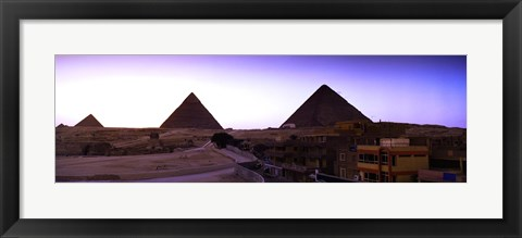 Framed Pyramids at sunset, Giza, Egypt Print