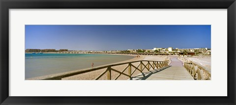 Framed Pier on the beach, Soma Bay, Hurghada, Egypt Print