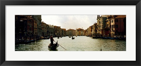 Framed Gondolas in the canal, Grand Canal, Venice, Veneto, Italy Print